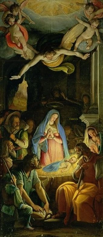 The Adoration of the Shepherds  Federico Zuccaro  Monasterio de El Escorial