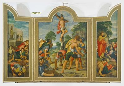 Coxcie,Michiel van The martyrdom of Saint Philip.Real Monastero de San Lorenzo, El Escorial, Spain