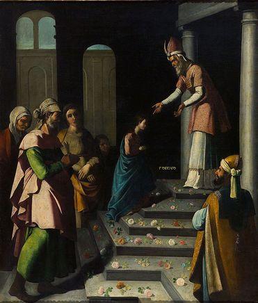 Zurbaran,Francisco de Presentación de la Virgen  Real Monastero de San Lorenzo, El Escorial, Spain