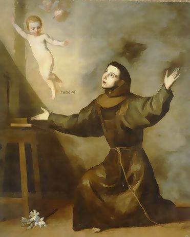José de Ribera  Apparition of the infant Jesus to Saint Anthony of Padua