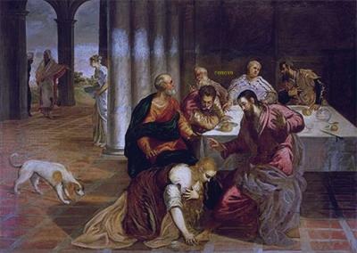 Tintoretto  The Conversion of Mary Magdalenec.1546/47 Real Monasterio de San Lorenzo de El Escorial Madrid Spain