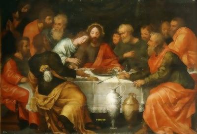 The Last Supper Coxcie,Michiel van El Escorial