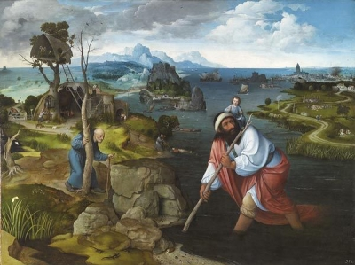Joachim Patinir, Landscape with St. Christopher