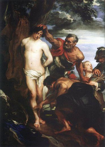 Colocación deEl martirio de san Sebastián de Anton van Dyck El Escorial