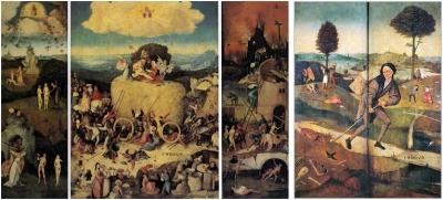 The Hay Wagon Hieronymus Bosch  Prado Museum