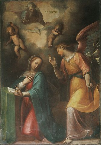 Guglielmo Caccia(Moncalvo) Annunciazione St. Andrews church (Alba, Italy)