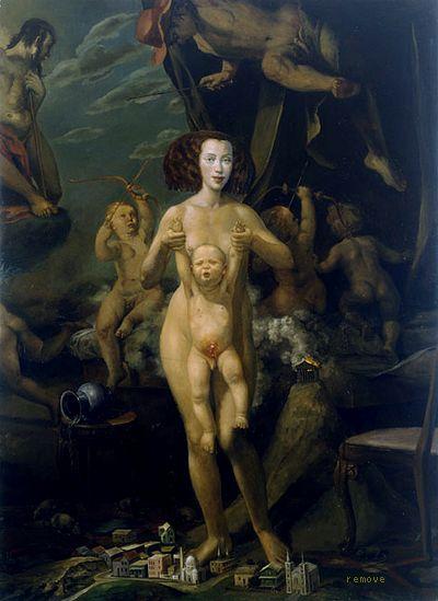 Self-Portrait as Mother and Child, Julie Heffernan