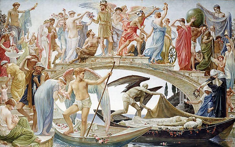天使の絵画生命の橋
