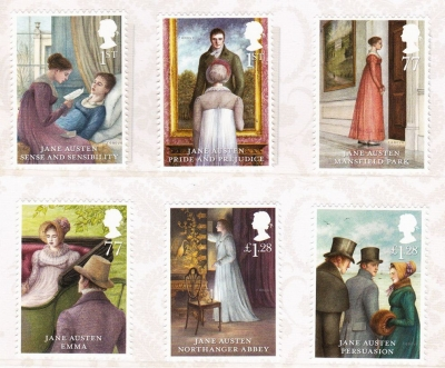 Illustrator Angela Barrett Jane Austen Stamps
