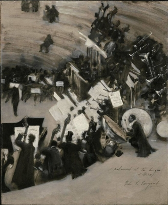Rehearsal of the Pasdeloup Orchestra at the Cirque dHiver by John Singer Sargent , Museum of Fine Arts, Boston
