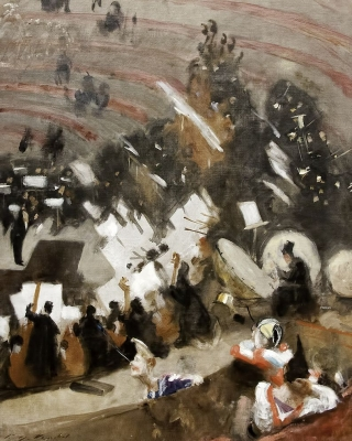 John Singer Sargent: Rehearsal of the Pasdeloup Orches 1878  Art Institute of Chicagotra