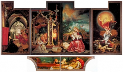 Matthias Grunewald, The Annunciation; Madonna and Child with Angels; The Resurrection