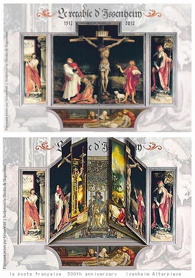 500th anniversary  Isenheim Altarpiece stamp