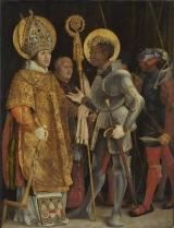 聖エラスムスとしてのアルブレヒト・フォン・ブランデンブルクと聖マウリティウスの出会い