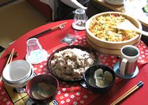 ちらし寿司と赤飯