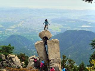 御在所岳 地蔵岩 登頂