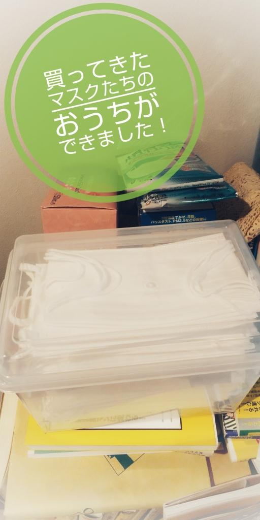 袋を開けて透明のケースに収納