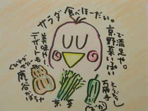 うっとり 今日野菜サラダを食う。