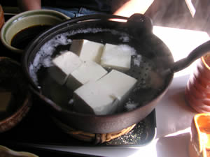 池谷茶屋の湯豆腐