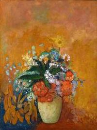 ルドン《花瓶の花》
