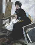 ベナール《マドレーヌ・ルロールと娘イヴォンヌ》