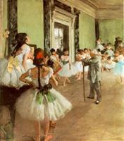 ドガ《バレエの授業》
