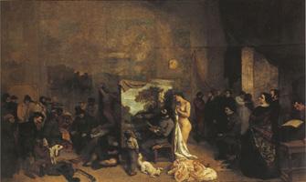 クールベ《画家のアトリエ》