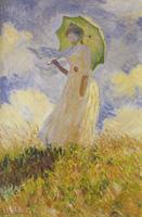 モネ《左向きの日傘の女》