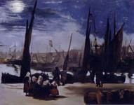 マネ《ブーローニュ港の月光》