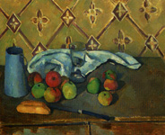 セザンヌ《果物、ナプキン、牛乳入れ》(1980-81)