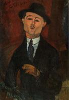 モディリアーニ《ポール・ギヨーム、ノーヴォ・ピロータ》(1915)