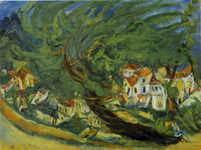 スーティン《傾いた木》(1923-24頃)