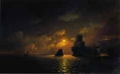 アイヴァゾフスキー《月夜》(1849)