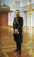 レーピン《ニコライ2世の肖像》(1896)