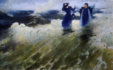 レーピン《何という広がりだ!》(1903)