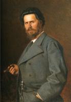 ヤロシェンコ《イヴァン・クラムスコイの肖像》(1876)