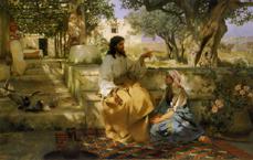 シェミラツキ《マルタとマリアの家のキリスト》(1886)