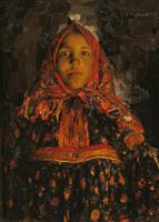 マリャーヴィン《ヴェールカの肖像》(1913)