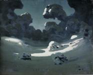 クインジ《森に注ぐ月の光、冬》(1898-1908)