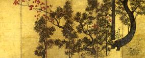 伝俵屋宗達《槙楓図》(17世紀前半)
