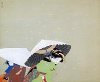 上村松園《牡丹雪》(1944年)