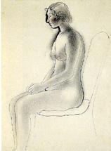 速水御舟「裸婦素描」(1933年)