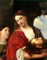 ティツィアーノ《洗礼者聖ヨハネの首をもつサロメ》(1515頃)