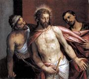 ヴェロネーゼ《キリストと刑吏たち》(1586-88)