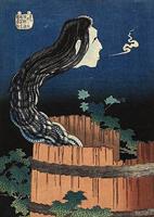 葛飾北斎《百物語 さらやしき》(1831-32)