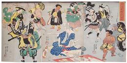 歌川国芳《流行逢都繪希代稀物》(1848)