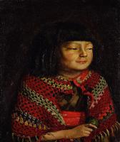 岸田劉生《麗子微笑》(1921)