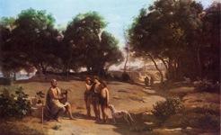 コロー_ホメロスと牧人たち