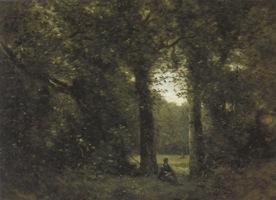 コロー_ヴィル=ダヴレーの想い出、森にて