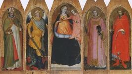 聖人らをともなう聖母子